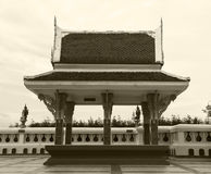 Small pavilion on sepia color Stock Images