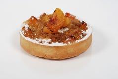 Small Peaches Cake Stock Image