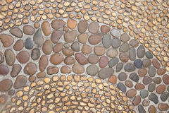 Small pebble brown stone decorated Stock Photos