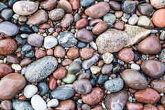 Small pebble rock background texture Stock Photos