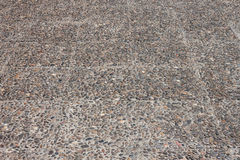 Small pebbles road background Royalty Free Stock Images