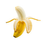 Small peeled banana Stock Image