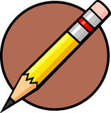 Small pencil. Illustration of a small pencil Royalty Free Stock Image