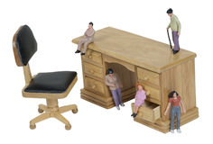 Small People Inspirations on a Desk Royalty Free Stock Images