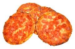 Small Pepperoni Pizzas Royalty Free Stock Photos