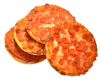 Small Pepperoni Pizzas Stock Image