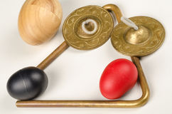 Small percussion instruments Stock Image