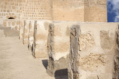 Small perpendicular walls supporting the main wall Royalty Free Stock Photography