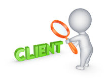 Small person and word CLIENT. Stock Image