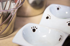 Small pet dish Stock Images