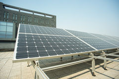 Small photovoltaic power plants Stock Photography