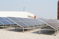 Small photovoltaic power plants Stock Photo