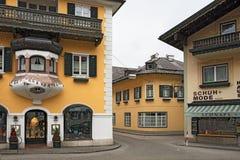 Small picturesque alpine village Sankt Gilgen. Austria. Stock Photo