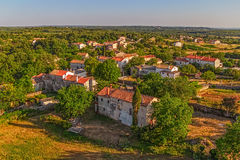Small Istrian village Stock Image