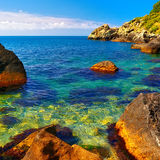 Small picturesque lagoon Stock Images