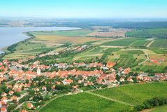 Small and picturesque village in South Moravia Stock Photo
