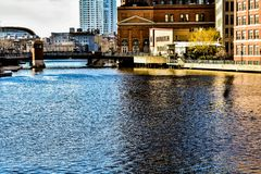 A little slice of Downtown Milwaukee stock photos