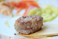 Small piece of meat Royalty Free Stock Photography