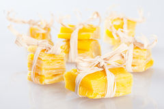 Small pieces of beeswax Stock Photo