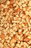 Small pieces dried bread Stock Images