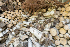 Small pieces of fireplace wood Stock Images