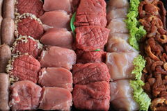 Small pieces of meat Royalty Free Stock Image