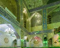 The decoration of interior of Shia mosque Royalty Free Stock Images