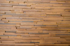Small pieces of wood together in a wall Stock Image