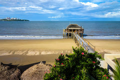 Small pier in Catembe Stock Images