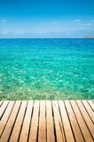 Small pier on the Mediterranean Royalty Free Stock Photography