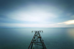 A small pier taken with long exposure Stock Photography