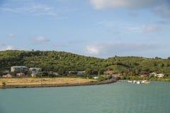Small Pier of Tropical Coast Stock Photos