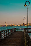 Small pier. View of Seattle from a small pier Royalty Free Stock Images
