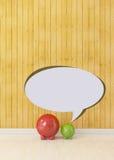 Small piggy with speech bubble, communication concept Stock Photos