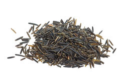 Small pile of black wild rice Royalty Free Stock Image