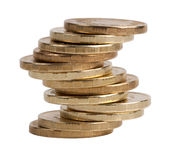 Small pile of copper coins Stock Photos