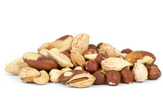 Small pile of different nuts Royalty Free Stock Photography
