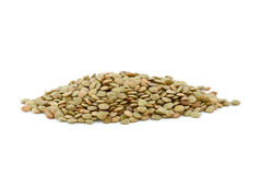 Small pile of dried lentil seeds Royalty Free Stock Photos