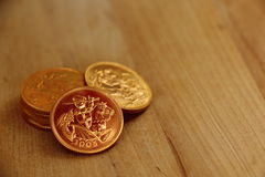 Small Pile Gold Sovereigns Stock Photos