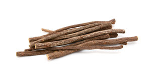 Small pile of liquorice root Stock Image