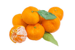 Small pile of a mandarin oranges Stock Photo
