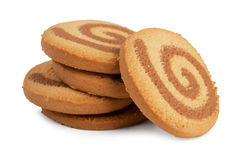 Small pile of orange round cookies Royalty Free Stock Images
