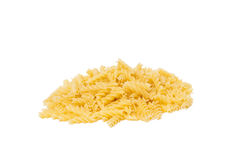 Small pile of pasta. Isolated on white background Royalty Free Stock Images