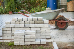 Small pile of paving stones Stock Images
