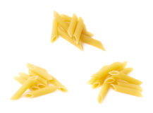 Small pile of penne pasta Stock Images