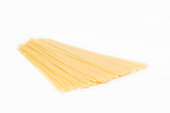 Small pile of spaghetti. Isolated on white background Royalty Free Stock Image