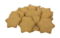 Star shaped ginger snap cookies Stock Image