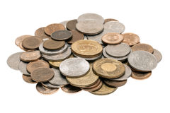 Small pile of Taiwanese coins. A small pile of 1, 5, 10 and 50 New Taiwan dollar coins Stock Photography