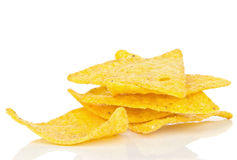 A small pile of tortilla chips Stock Image