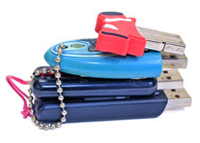 Small pile of USB Flash Drives Stock Image